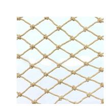 安赛瑞 12527 麻绳安全网 网孔10cm 麻绳编织网 景区护栏网 菱形打结网 Φ10mm 3×10m 一捆 亚麻色