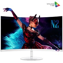 AOC CU32N2 31.5英寸 4K超高清 1500R大曲面微框液晶电脑显示器 单台装 白色