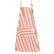拜杰(Baijie)CP-203 家居厨房条纹时尚围裙 烘焙插花 防污家务围裙 单件 红条纹