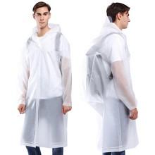 驰动 MJ-819 一次性成人背包款雨衣 长款带帽 XL码 白色