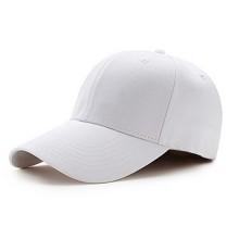 虞馥香 男女通用韩版全棉纯色棒球帽 可调节 白色