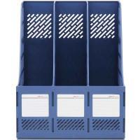 得力(deli)9847 文件筐 三栏文件框三色可选 12个/箱 整箱装