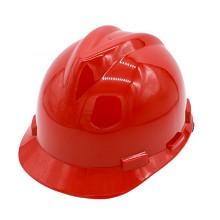 双安 MV001  ABS安全帽 V字型 顶 红色