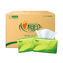 心相印(Mind Act Upon Mind)ADA00744(DT15150) 抽纸茶语丝享S码3层150抽24包整箱
