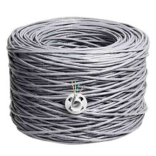 丽贴 LN-WX15-02 网线 超五类双绞网线 0.49mm纯铜线芯 300m/箱 单箱 灰色