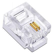 丽贴 LN-RJ11 水晶头 电话线两芯水晶头 100颗/盒 单盒