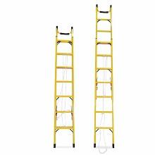 理联 LN-JS40 梯子 玻璃钢绝缘单面伸缩梯 折叠2米伸4米 单把