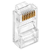 丽贴 LN-SJT05 8 水晶头 芯网线水晶头 100颗/盒 单盒