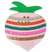 金牌 sc100 加厚晨检卡 签到牌 桃子橘子梨子青苹果牡丹花草莓图案请备注