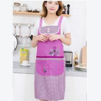 桂凤 布围裙 有口袋 紫色