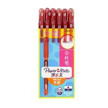 缤乐美(PaperMate)2048171 0.38mm意趣中性笔P2 12支/盒 单盒 红色