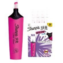锐意(Sharpie)1962666 荧光笔透明式笔头 12支/盒 单盒 粉色