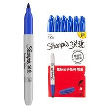锐意(Sharpie)1962512 防褪色马克笔细 12支/盒 单盒 蓝色