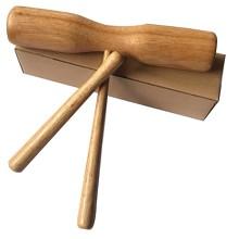 奥尔夫天地 双响筒 木质类打击乐器