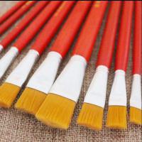 南竹 12号 油画笔红杆刷子 尼龙材质 50支/盒
