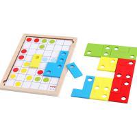 巧之木(QZM)逻辑思维方块拼图 益智力开发动脑 适用于2-6岁