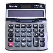 广博(GuangBo)NC-1250 计算器 桌上型计算器1台 银黑色
