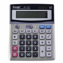 广博(GuangBo)NC-1251 计算器 桌上型计算器1台 灰色