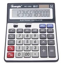 广博(GuangBo)NC-1252 计算器 桌上型计算器1台 灰色