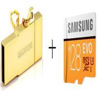 三星(SAMSUNG)TF128GB 存储卡+三星OTG多功能读卡器