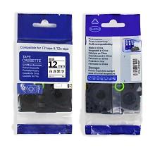 得印(befon)AZe-231 标签机色带12mm 白底黑字 适用兄弟 brother PT-D200/PT-D210/PT-2030