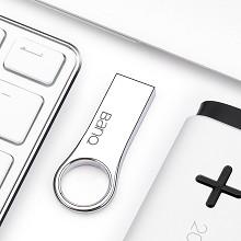 banq P80 高速防水防震金属车载U盘 32G USB3.0 轻薄版 雪白银