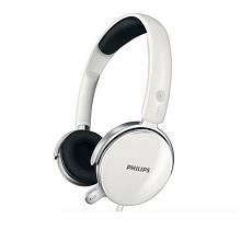 飞利浦(PHILIPS)SHM7110 头戴式电脑游戏耳机 耳麦 白色