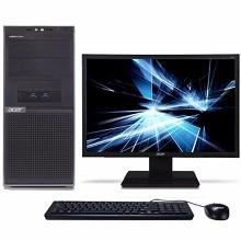 宏碁(acer)Veriton D430 6458 21.5英寸台式电脑 G4560 4GB 1T硬盘 集成显卡 无光驱  LINUX 中标麒麟V7.0 三年质保