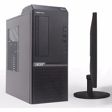 宏碁(acer)Veriton D650 8680 台式电脑 G4900 4GB 1T硬盘 集成显卡 无光驱 LINUX 中标麒麟V7.0 19.5英寸显示器 三年质保