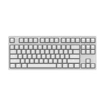 迦斯(GANSS)87C机械键盘 有线 樱桃青轴 87键 全键无冲 键线分离 PBT键帽 白色白光版