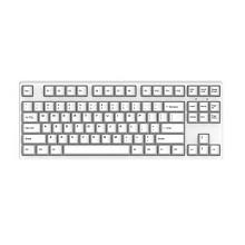 迦斯(GANSS)87C机械键盘 有线 樱桃茶轴 87键 全键无冲 键线分离 PBT键帽 白色无光版