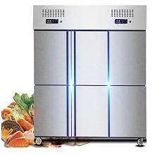宏源(HY) 不锈钢六开门双温冷藏柜 经济型
