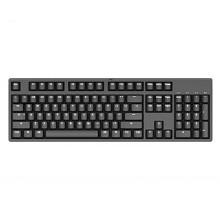 迦斯(GANSS)104C机械键盘 有线 樱桃青轴 104键 全键无冲 键线分离 PBT键帽 黑色白光版