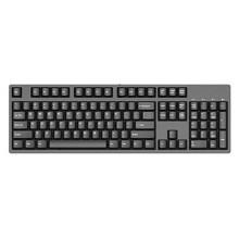 迦斯(GANSS)104C机械键盘 有线 樱桃青轴 104键 全键无冲 键线分离 PBT键帽 黑色无光版