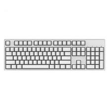 迦斯(GANSS)104C机械键盘 有线 樱桃青轴 104键 全键无冲 键线分离 PBT键帽 白色白光版