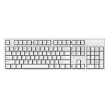 迦斯(GANSS)104C机械键盘 有线 樱桃青轴 104键 全键无冲 键线分离 PBT键帽 白色无光版