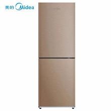 美的(Midea)BCD-186WM 双开门冰箱 186升容量 定频 二级能效 风冷 电脑控温 一年保修 金色
