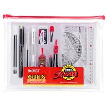 宝克(BAOKE)KS001 金榜题名考试套装(绘图套尺+中性笔+涂卡铅笔+笔芯+橡皮+圆规)