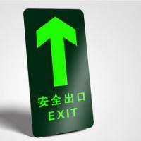眼镜猴 YGXXX-T01-T11 安全出口标识贴 提示牌 15*30cm