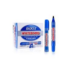 宝克(BAOKE)MP399 可加墨白板笔 12支/盒 蓝色