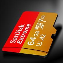 闪迪(SanDisk)SDSQXA2-064G-ZN6MA TF存储卡 64GB 读速160MB/s 至尊极速移动版