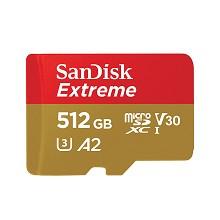闪迪(SanDisk)SDSQXA1-512G-ZN6MA TF存储卡 512GB 读速160MB/s 至尊极速移动版读速