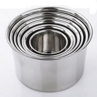 兴发 带盖加厚加深调料盅 圆形厨房打蛋盆 304不锈钢材质 直径16cm 高10cm GF