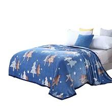 美缘登 T5010-2 四季毯 绿野仙踪丝绒毯 单条 颜色随机