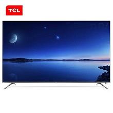 TCL 65P8 65英寸液晶電視機 支持有線/無線連接 3840x2160分辨率 LED顯示屏 三級能效 一年保修 黑色