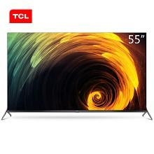 TCL 55Q680 55英寸4K超高清液晶电视机 支持有线连接 3840x2160分辨率 LED显示屏 二级能效 一年保修 黑色