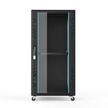 图腾(TOTEN)G2.6622 22U网络机柜 19英寸国际标准机柜 黑色