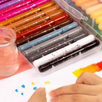 迪士尼(Disney)DF5641-n 水溶性油画棒套装 36色 送笔刷 2本填色本 勾线笔