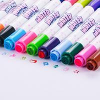 得力(deli)70665 24色双头双印章水彩笔 可水洗 颜色随机
