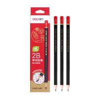 得力(deli)58119 铅笔 连中三元考试2B涂卡 12支/盒 单盒